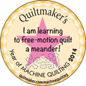 I am learning to free-motion quilt a meander