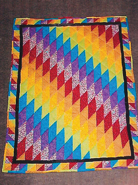 Painted Canyon quilt by Maureen Henry