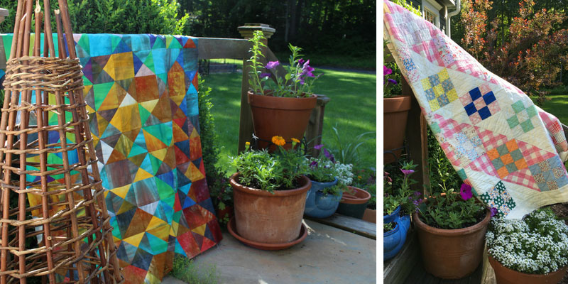 Exploring traditional quilt blocks in an artistic way