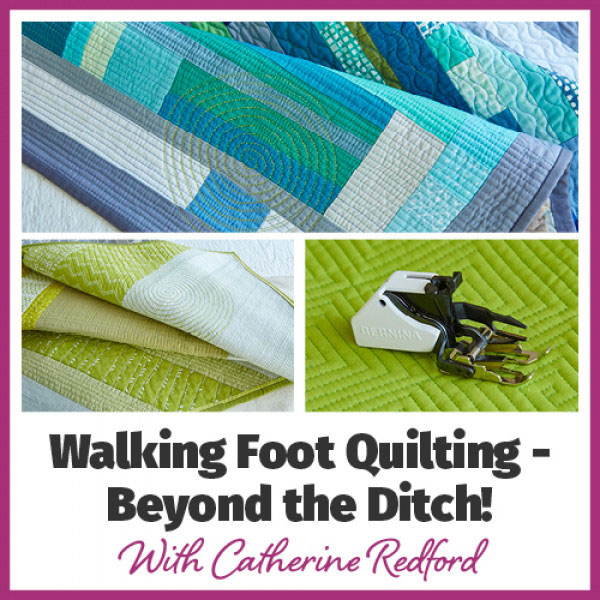 Walking Foot Quilting - Beyond the Ditch Online Workshop