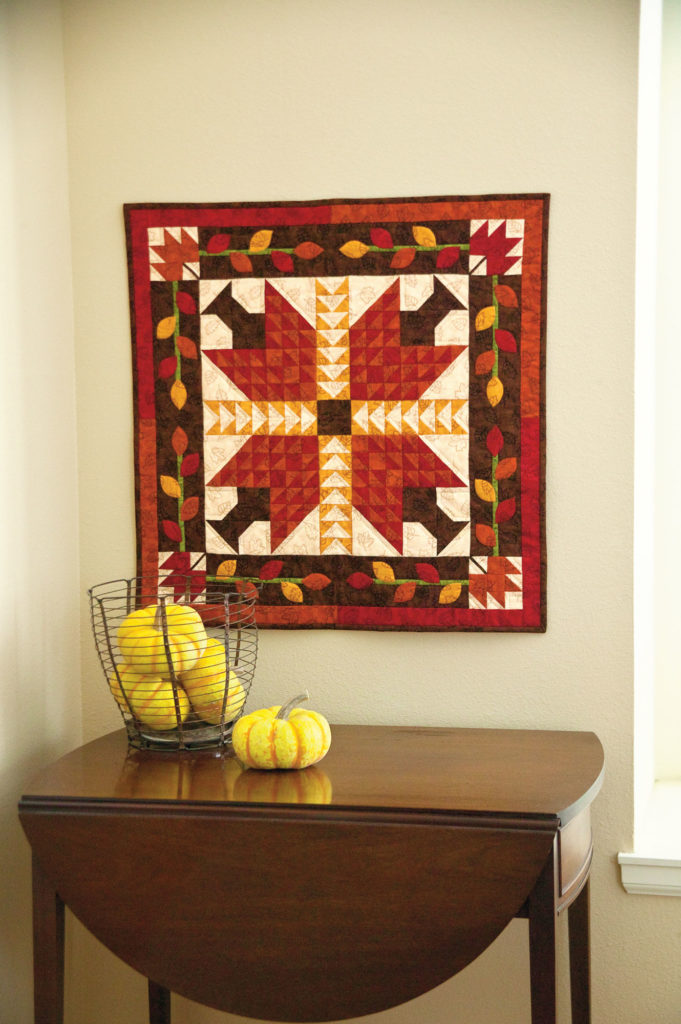 Welcome Fall was published in Quilters Newsletter's Best Scrap Quilts 2014.*