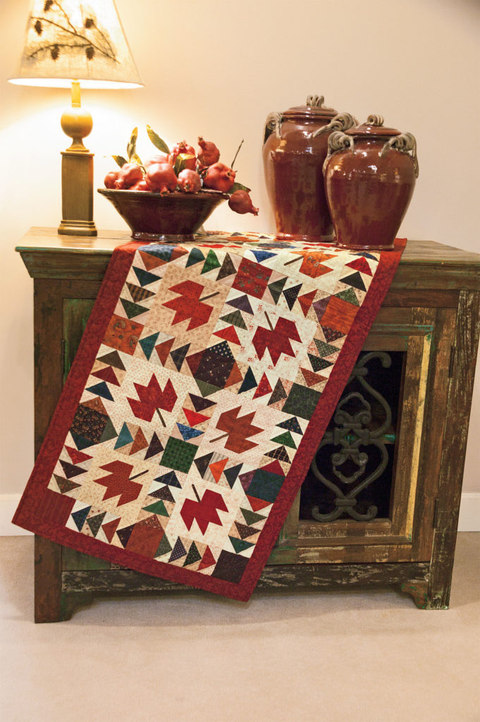 Autumn Leaves was published in Quilters Newsletter's Best Fat Quarter Quilts 2011.*