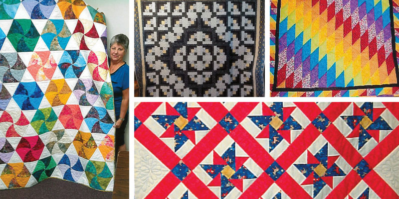 Reader quilts featured in the July/August 2018 issue of Love of Quilting
