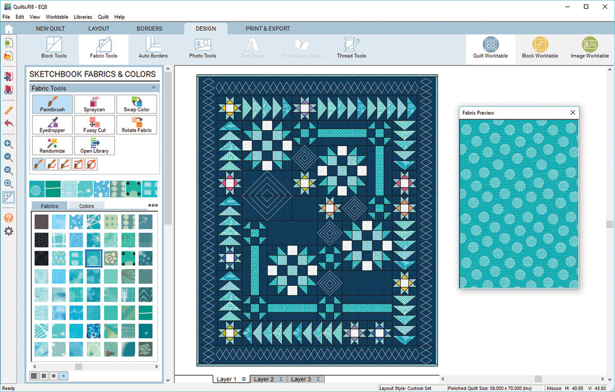 The fabric preview window.