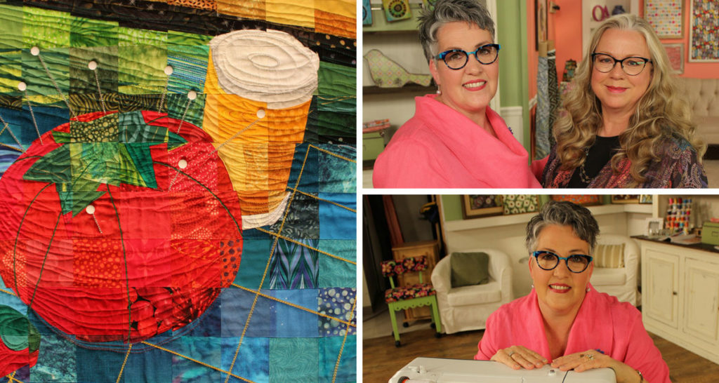 Projects and artists featured in episode 2206 of Quilting Arts TV