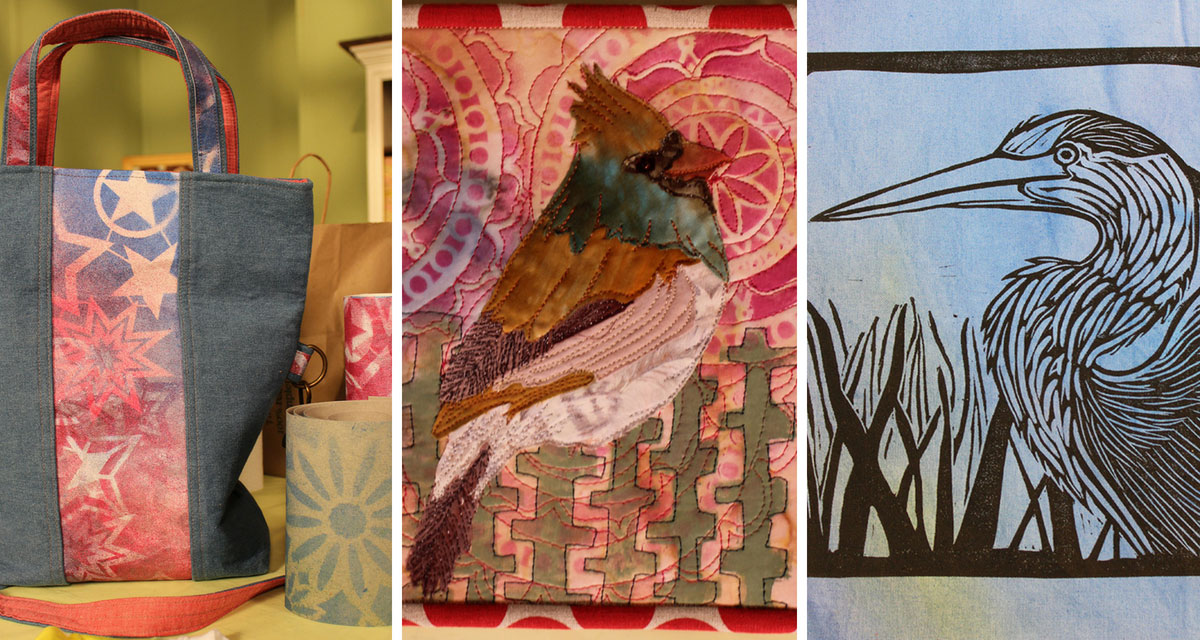 Projects featured in episode 2212 of Quilting Arts TV.
