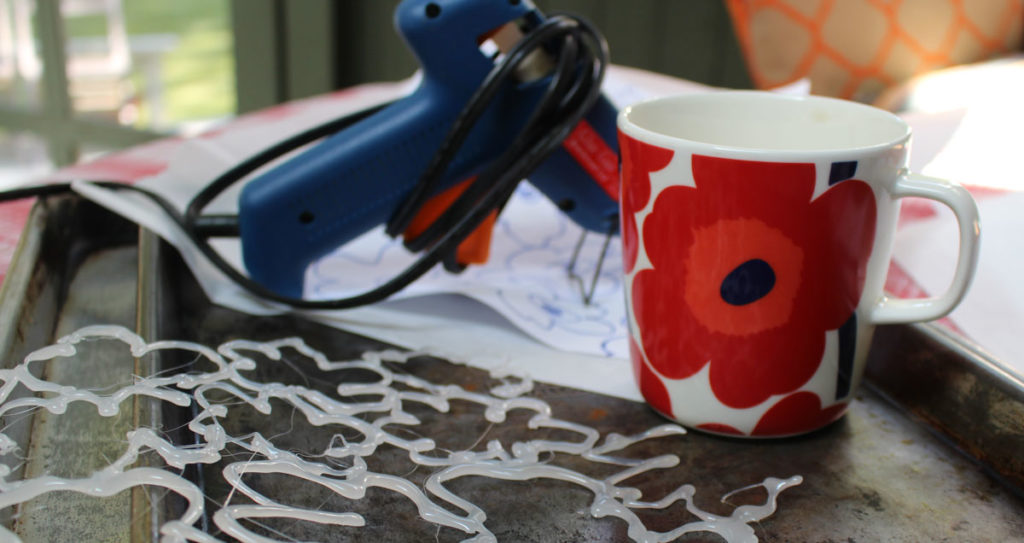 Join Camp Quilting Arts this summer to make surface design stencils out of hot glue.