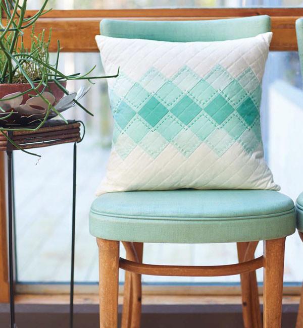 Ombré Argyle Pillow by Allison Jensen