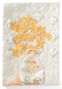 Art quilt by Margarita Korioth showcasing textured embellishments