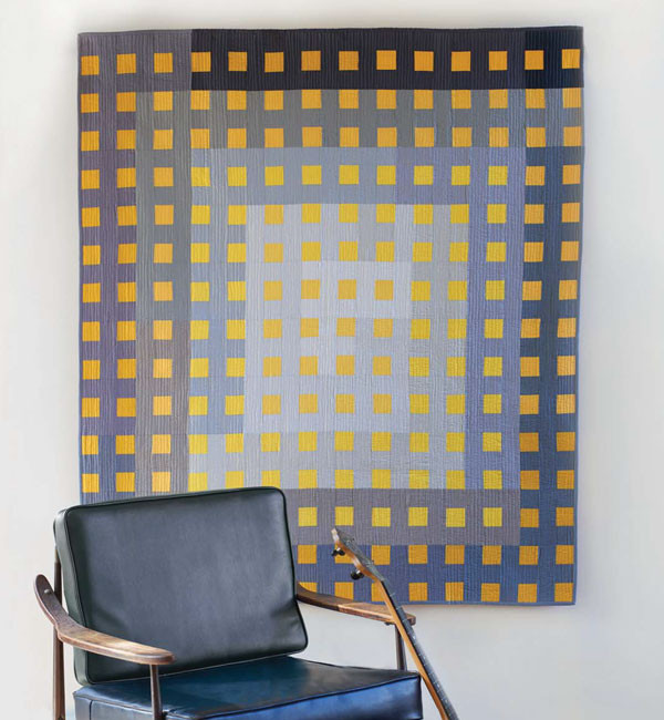 Ombré Gingham Quilt by Malka Dubrawsky
