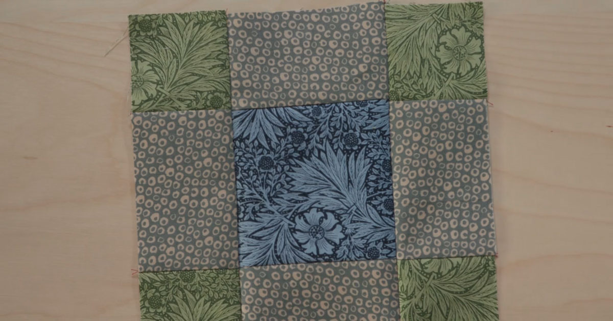 Quilt block featured in episode two of the Morris Star Block of the Month