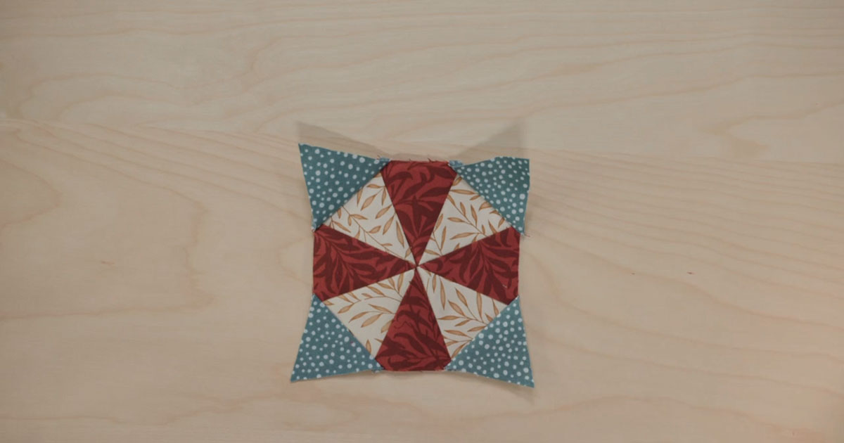 Part 1 of the quilt block featured in episode 4 of the Morris Star Block of the Month quilt