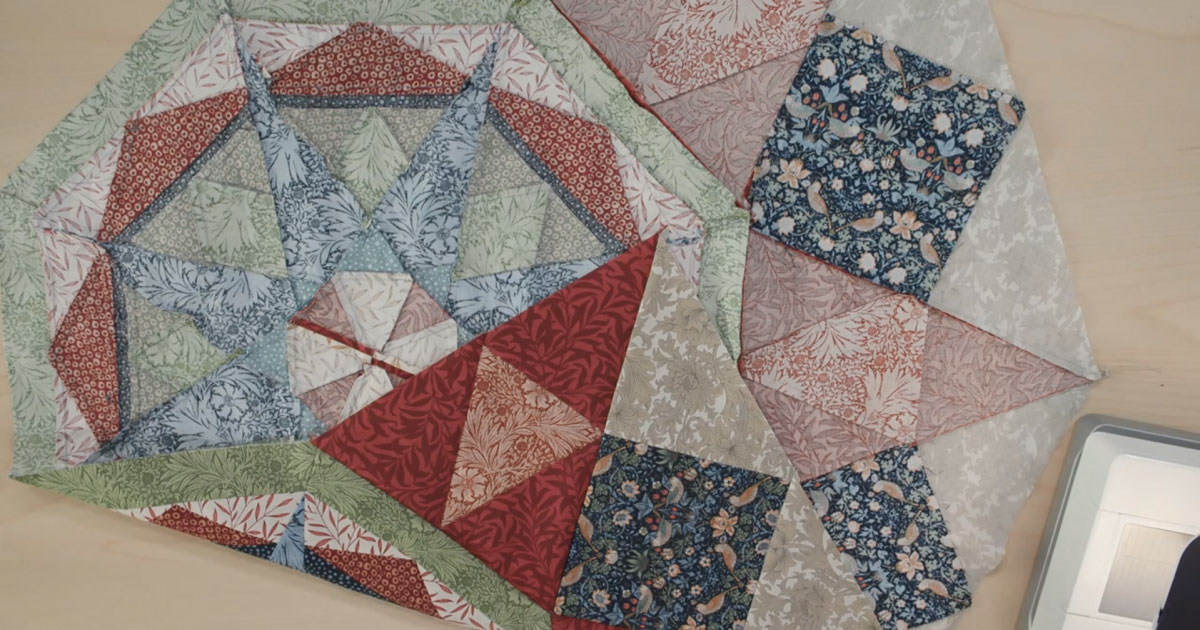 Quilt block tutorial featured in month 5 of the Morris Star Block of the Month