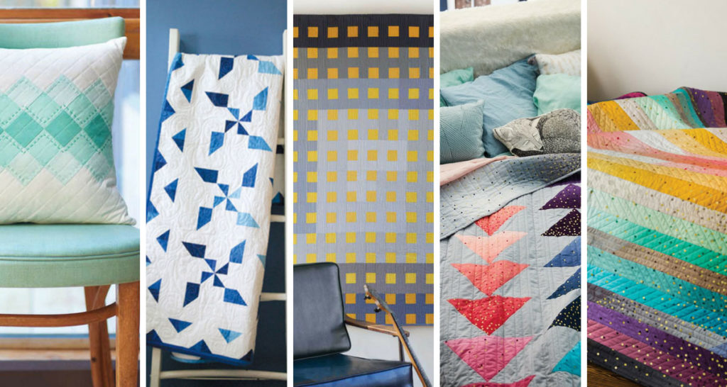 Calming ombre Quilt patterns to make