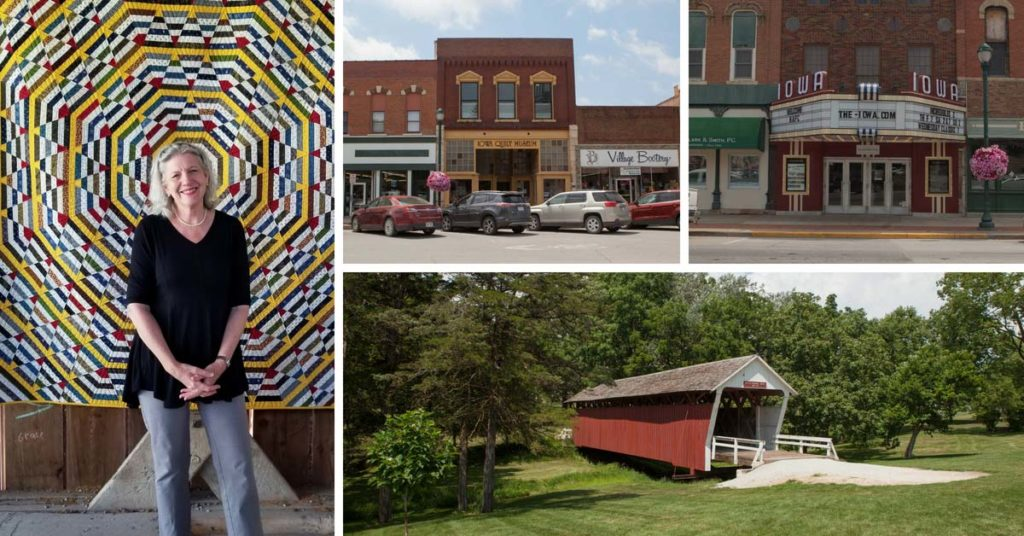 Marianne Fons and her hometown of Winterset, IW