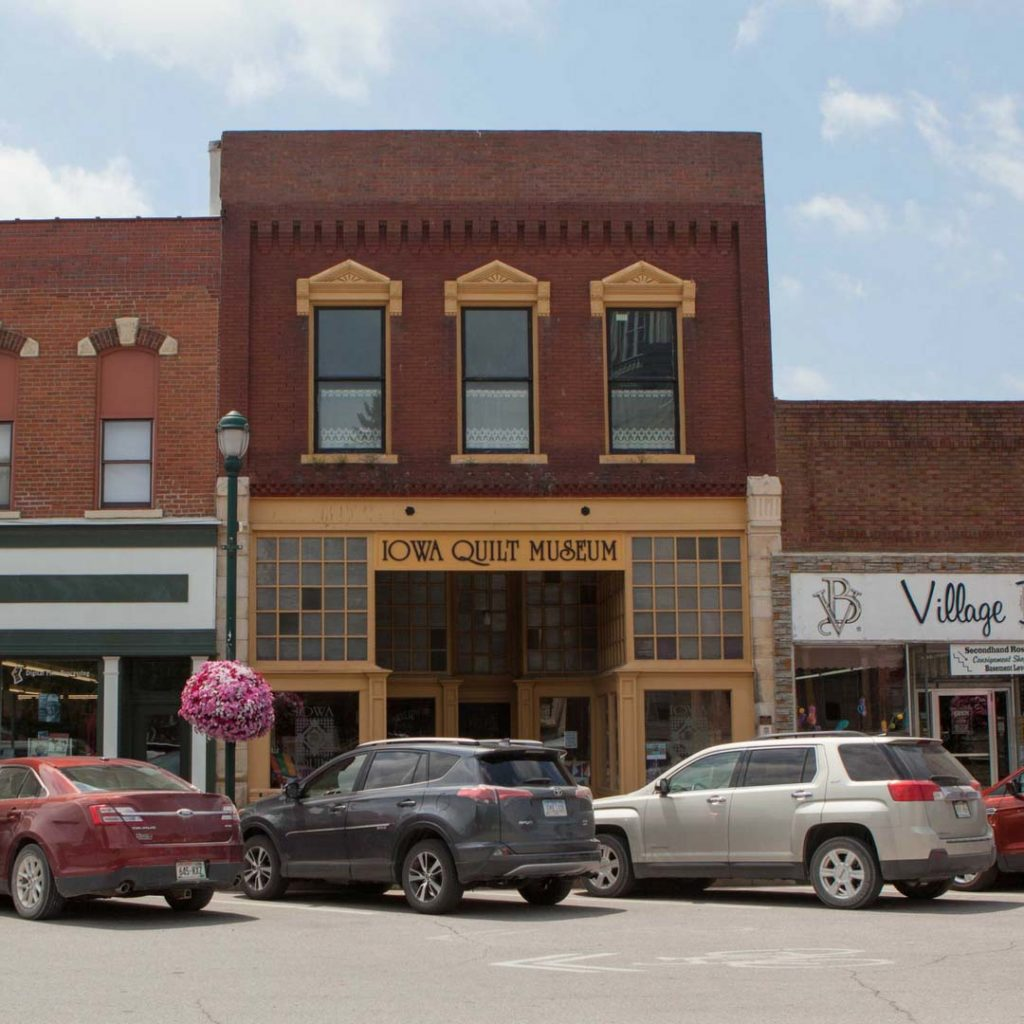 The Iowa Quilt Museum, located on the south side of Winterset's historic town square