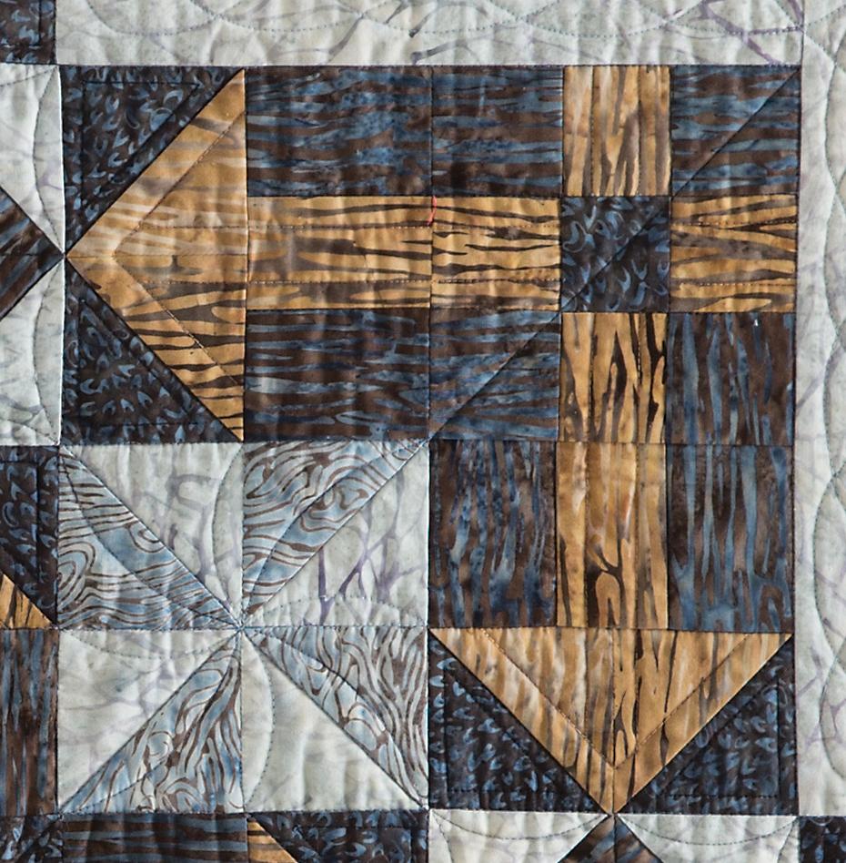 Archipelago's Blocks with Directional Print Fabric