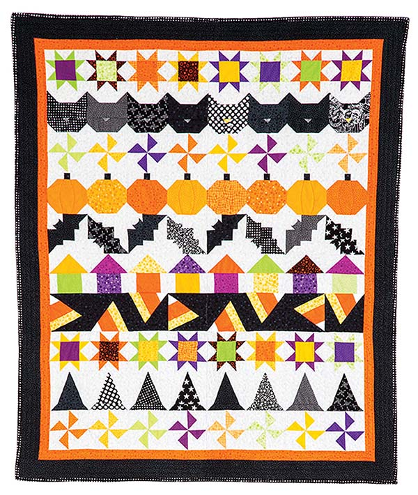 Bitty Boo by Denise Starck was the inspiration for the <em>Quiltmaker</em> staff challenge projects