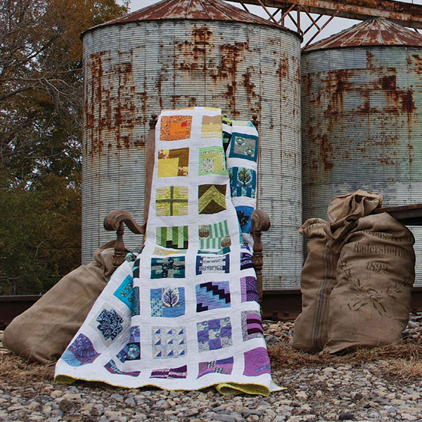 Gridlock by Tula Pink; quilted by Angela Walters