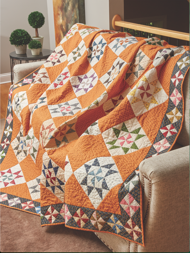 Part of a block swap, the Martha Washington Star blocks in Liz Porter's quilt are the same dimensions as the ones on Martha, Martha.