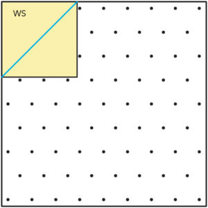 Figure 2 of How to make a Snowball quilt block