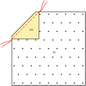 Figure 3 of how to make a Snowball quilt block