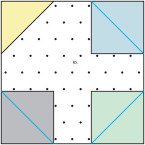 Figure 4 of How to make a Snowball quilt block