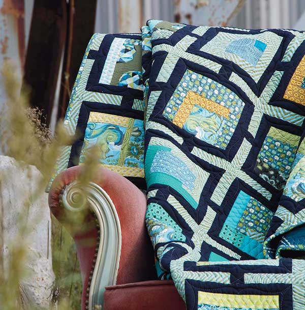 Trellis quilt by Tula Pink; quilted by Angela Walters