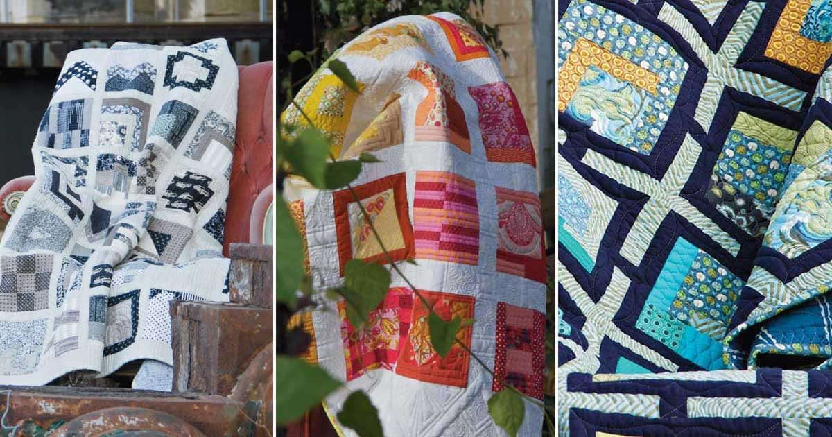 Three quilts by Tula Pink
