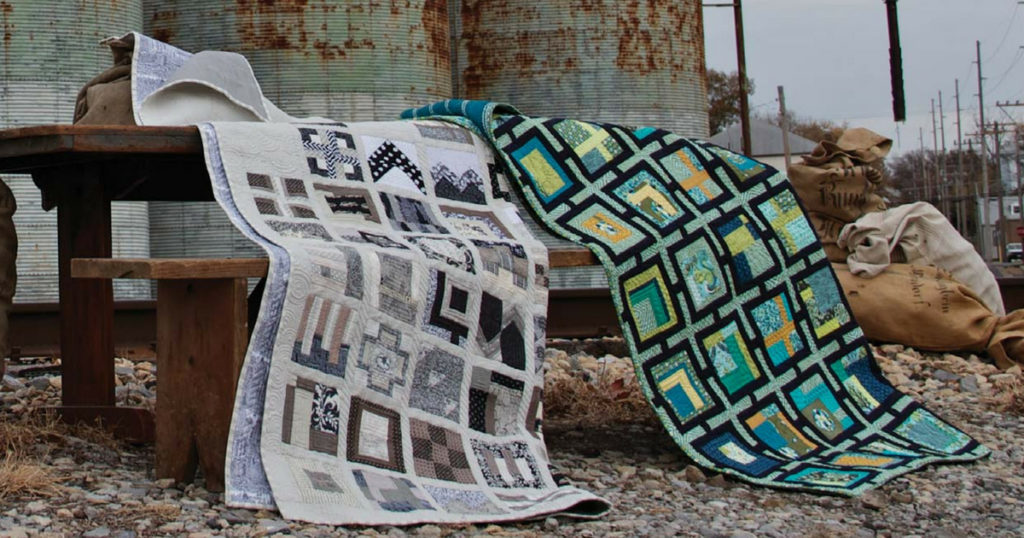 Skyline and Trellis Quilt by Tula Pink; quilted by Angela Walters