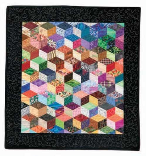 A New Twist on Tumbling Blocks by Leslie Tallaksen