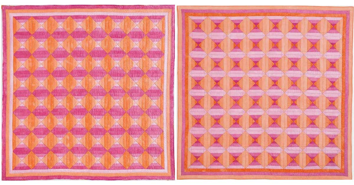 Rosie Glow and Peachy Keen by Janet Jo Smith from Quilters Newsletter's Best Weekend Quilts 2013