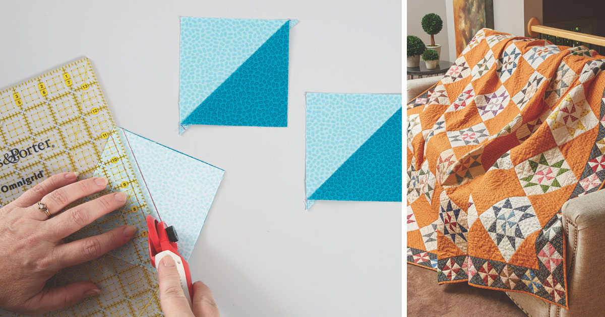 There are multiple ways to construct a quilt, and multiple ways to write the instructions.