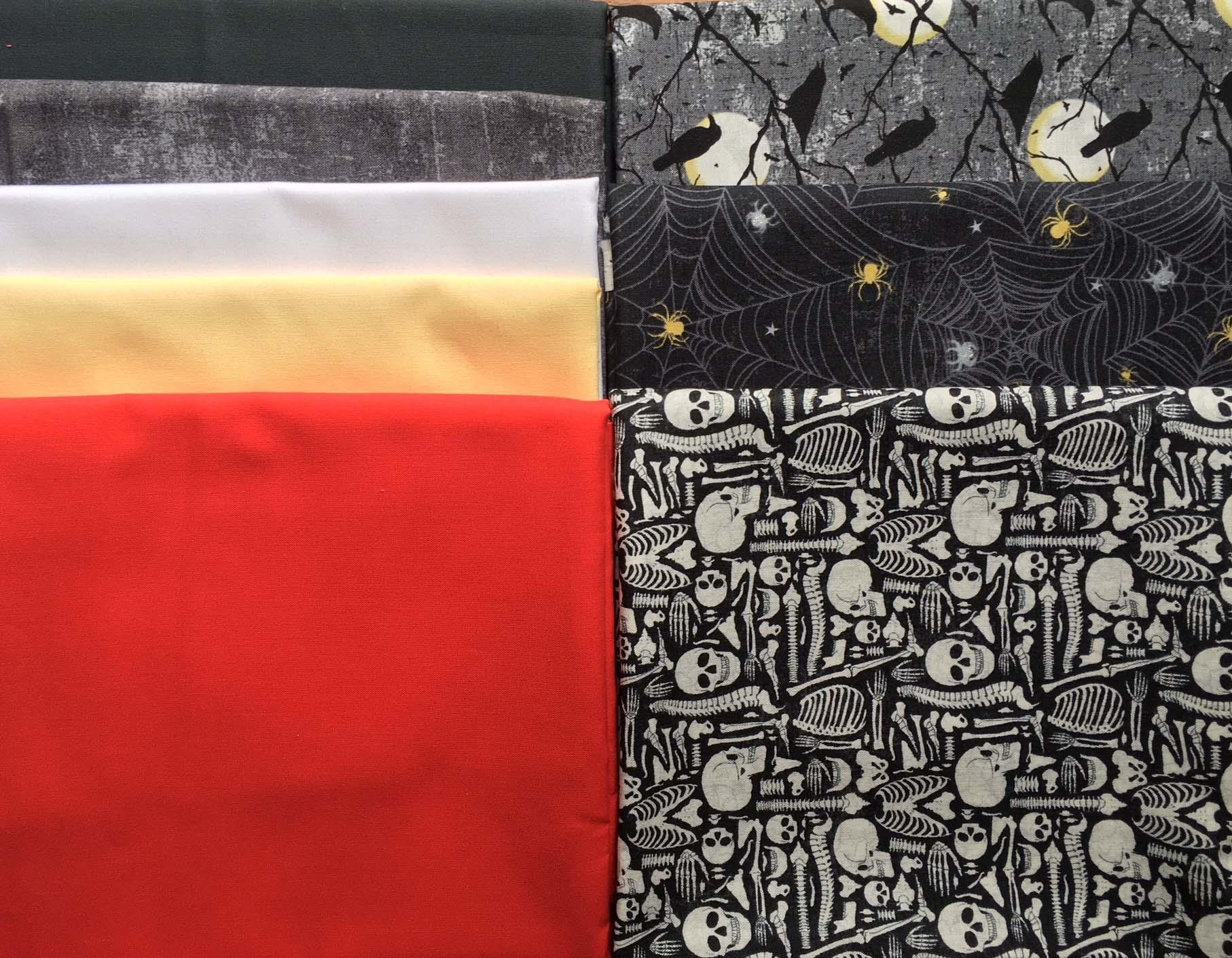 Northcott Elegantly Frightful and Colorworks Premium fabrics