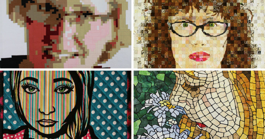 A selection of modern portrait quilts