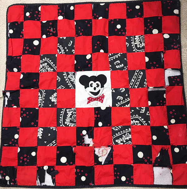 David's Quilt Before