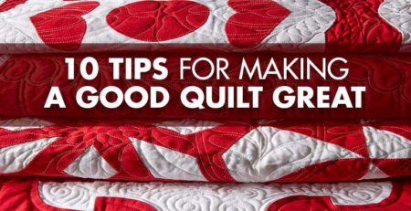 10 Quilting Tips from author of Red and White Quilting Linda Pumphrey