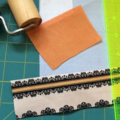 Positioning fussy-cut patches for foundation piecing takes a little extra work, but it's worth it!