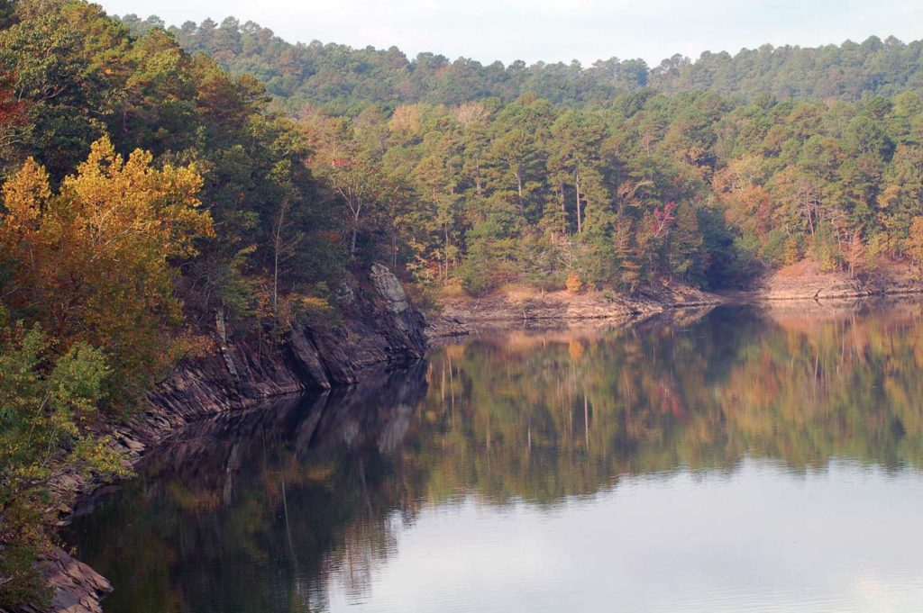 The Ouachita River seen from Highway 27 in Mount Ida County, Arkansas. Photo courtesy Mount Ida Area Chamber of Commerce.