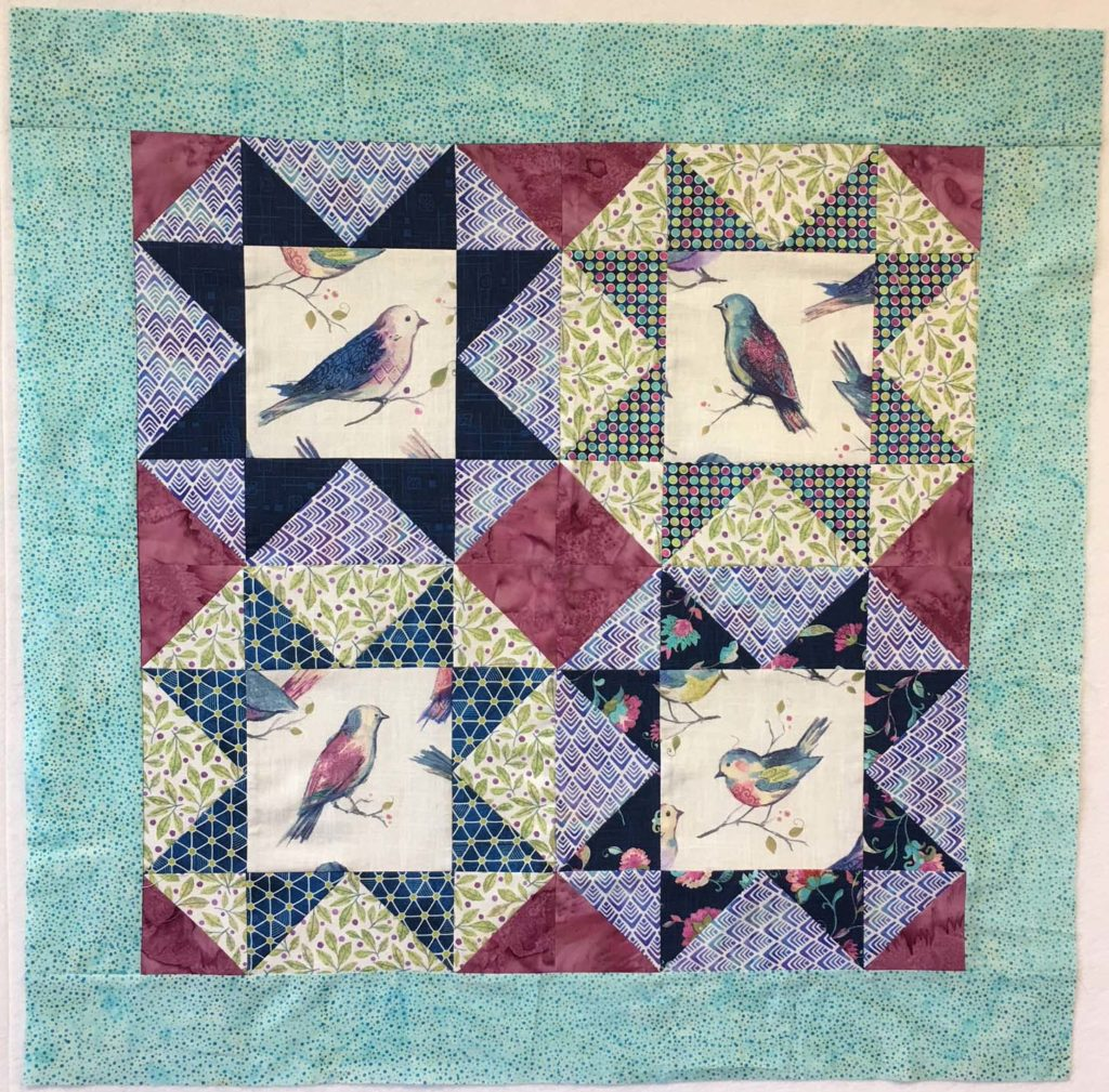Part 2 of Lori's All A Twitter BOM quilt