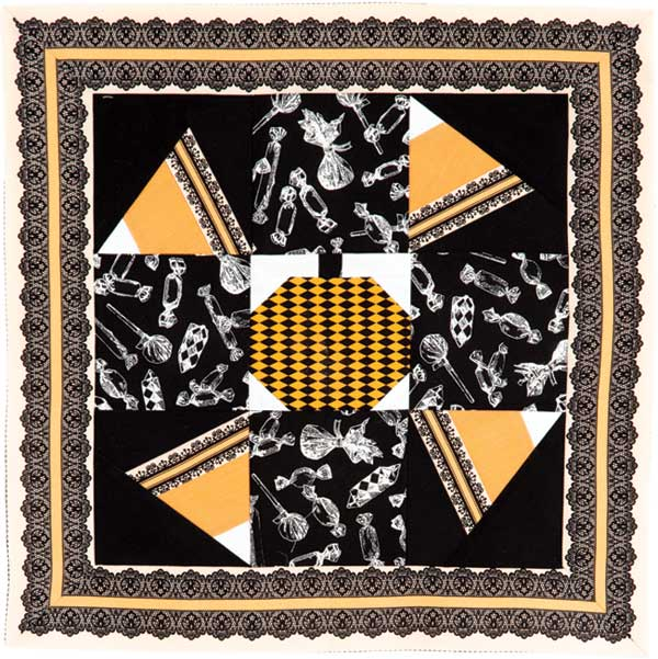 Bitty Boo pillow sham sewn by Mary Kate Karr-Petras