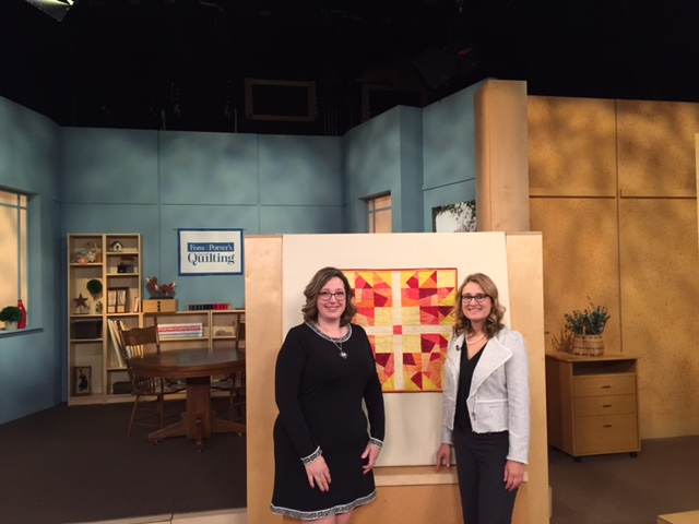 """Sara Gallegos with special guest Angela Huffman show the different quilting techniques on episode 3212 of """"Fons & Porter's Love of Quilting."""""""