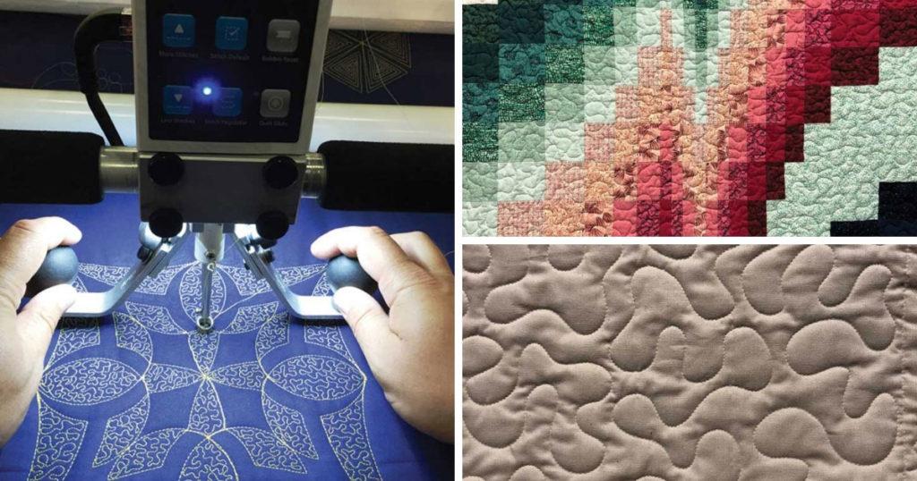 longarm quilting the quilt