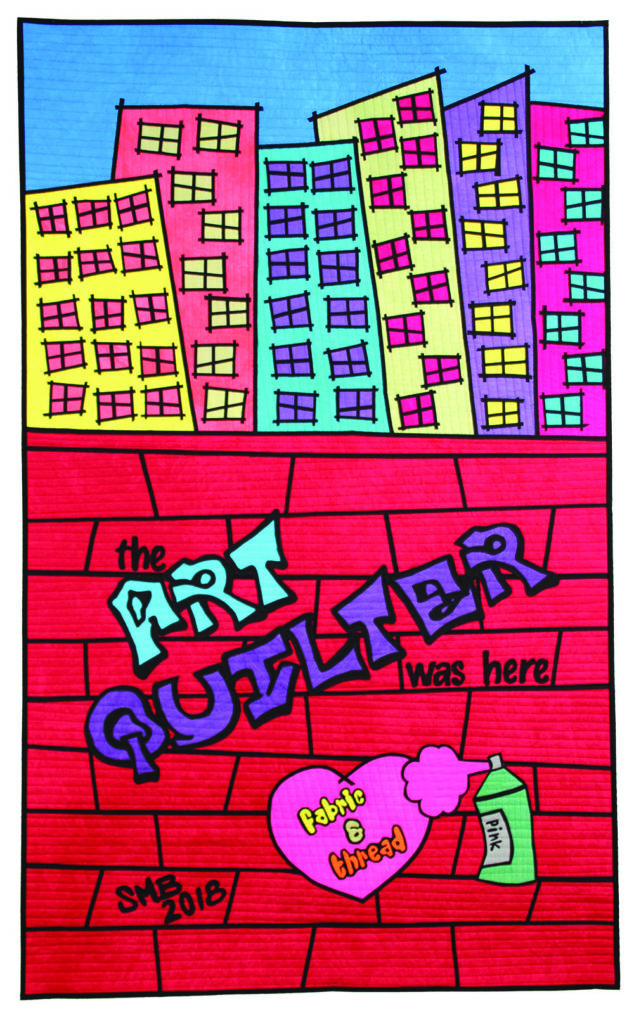 """The Art Quilter"" • 30"" x 50"" Photos courtesy of Sue Bleiweiss"