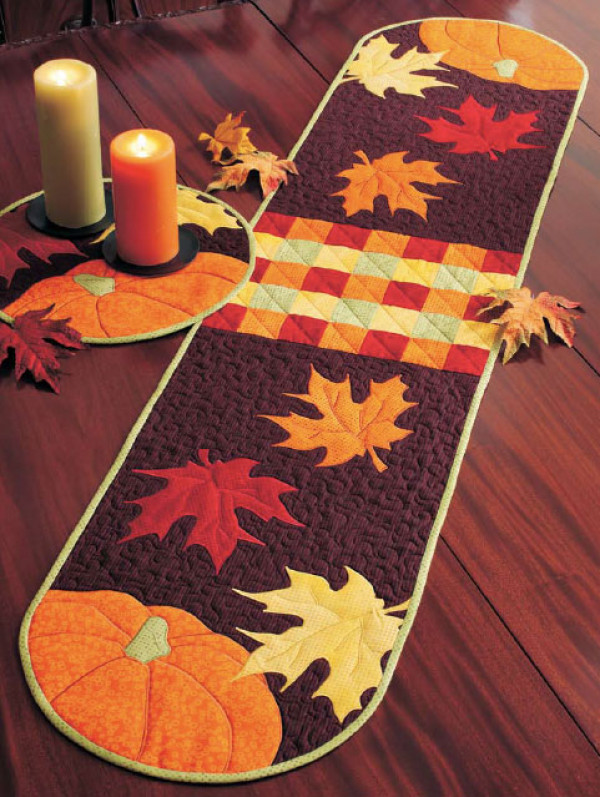 Autumn Leaves Table Runner and Placemat