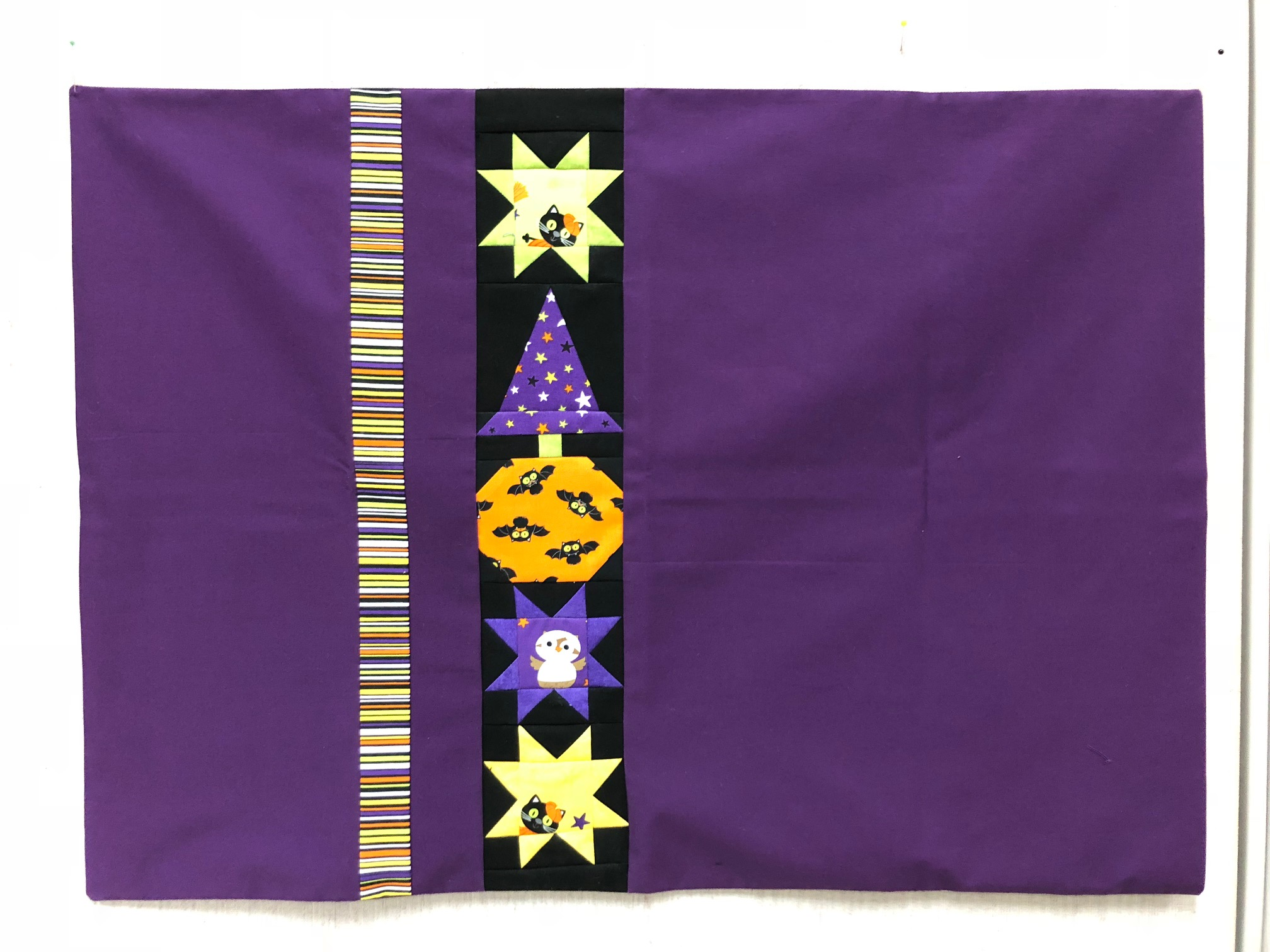 Tricia Patterson used Bitty Boo blocks in her Halloween pillowcase.