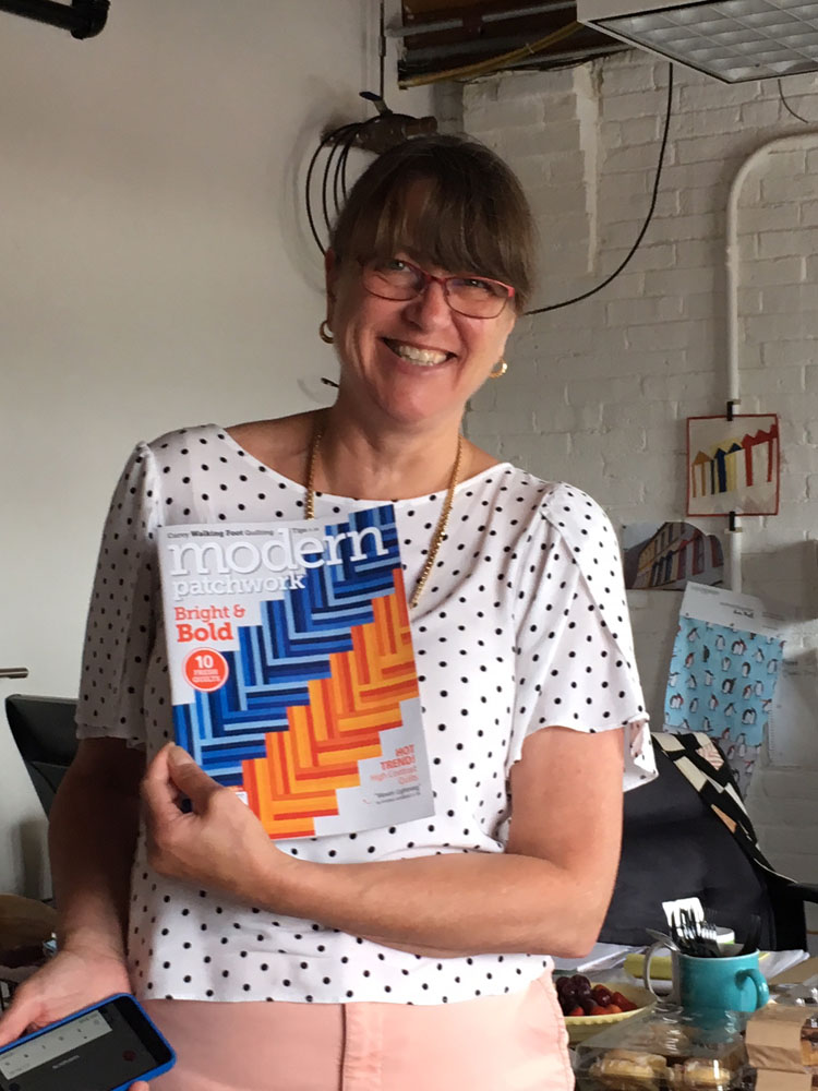 """Kristine Lundblad, Associate Editor, shares how she made the precisely pieced binding on """"Woven Lightning"""" – the cover quilt on this month's issue."""