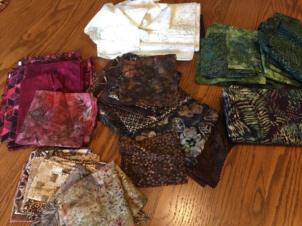 Lori's final fabric pile