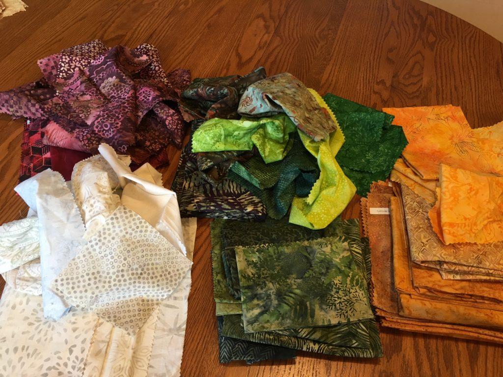 First sort of Lori's fabrics