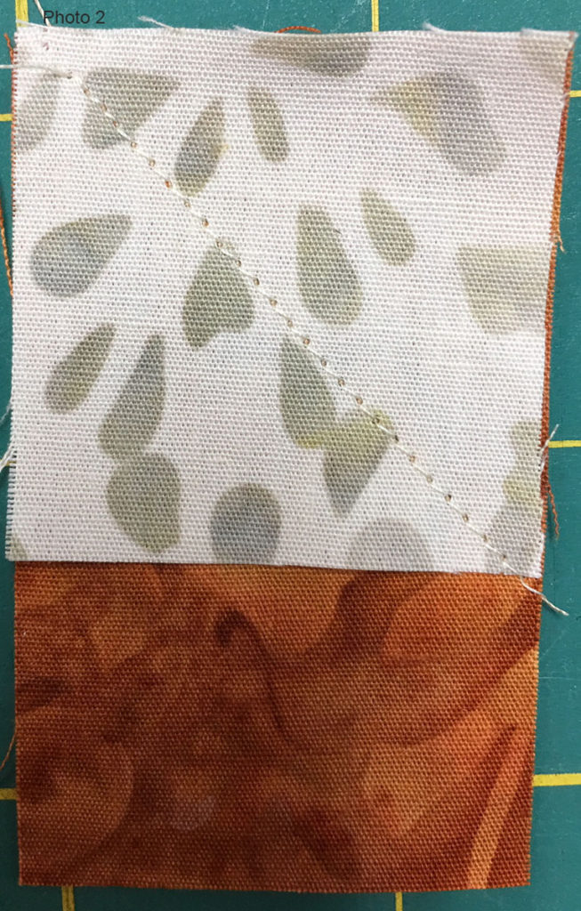 Photo 2 of the Stitch-and-Flip method